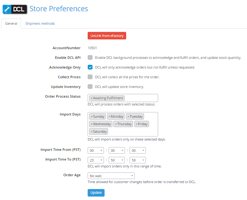 Store Preferences